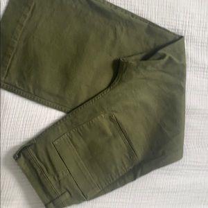 Madewell High waist wide leg crop pants SZ 26